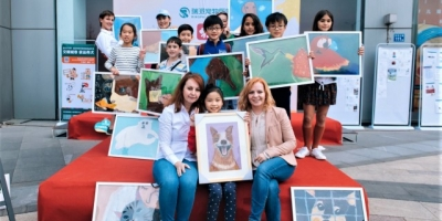 It all started with a 'Happy Dog' painting: Inspiration from children in China